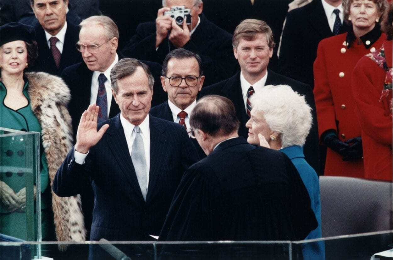 Bush Takes the Oath 1989