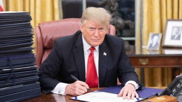 President Trump at his desk