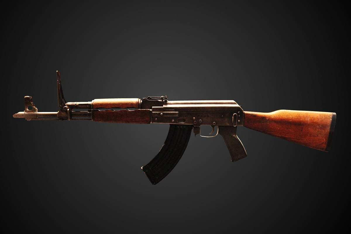 AK-47 on display at the Parachute Regiment and Airborne Forces Museum.