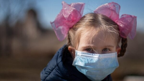 Coronavirus children in mask