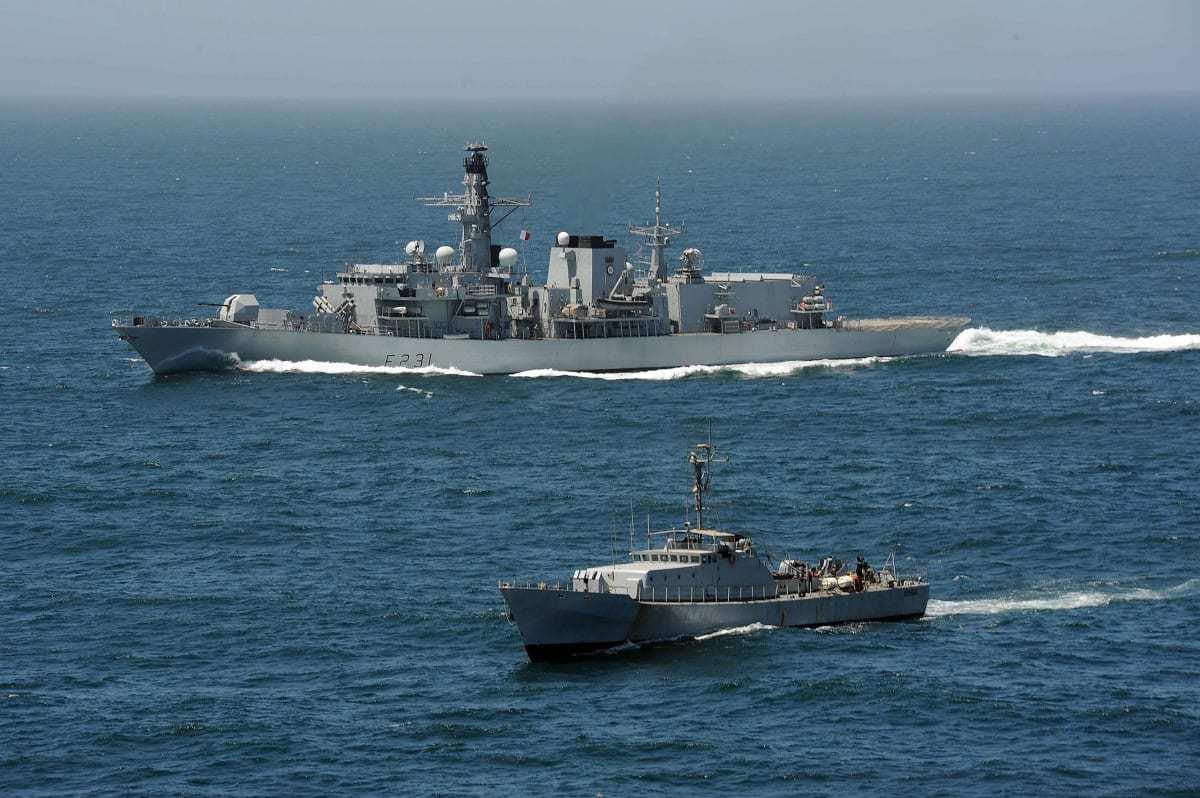 HMS Argyll off Senegal, in 2013