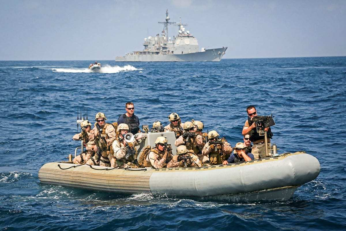 U.S. Marine Corps on the Water.