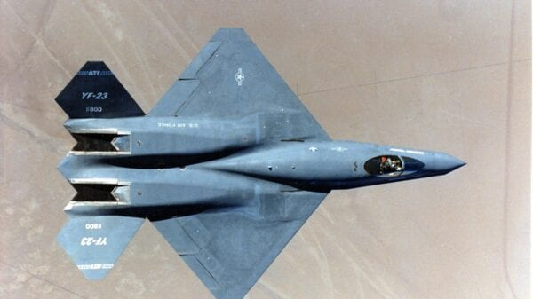 YF-23 from Above.