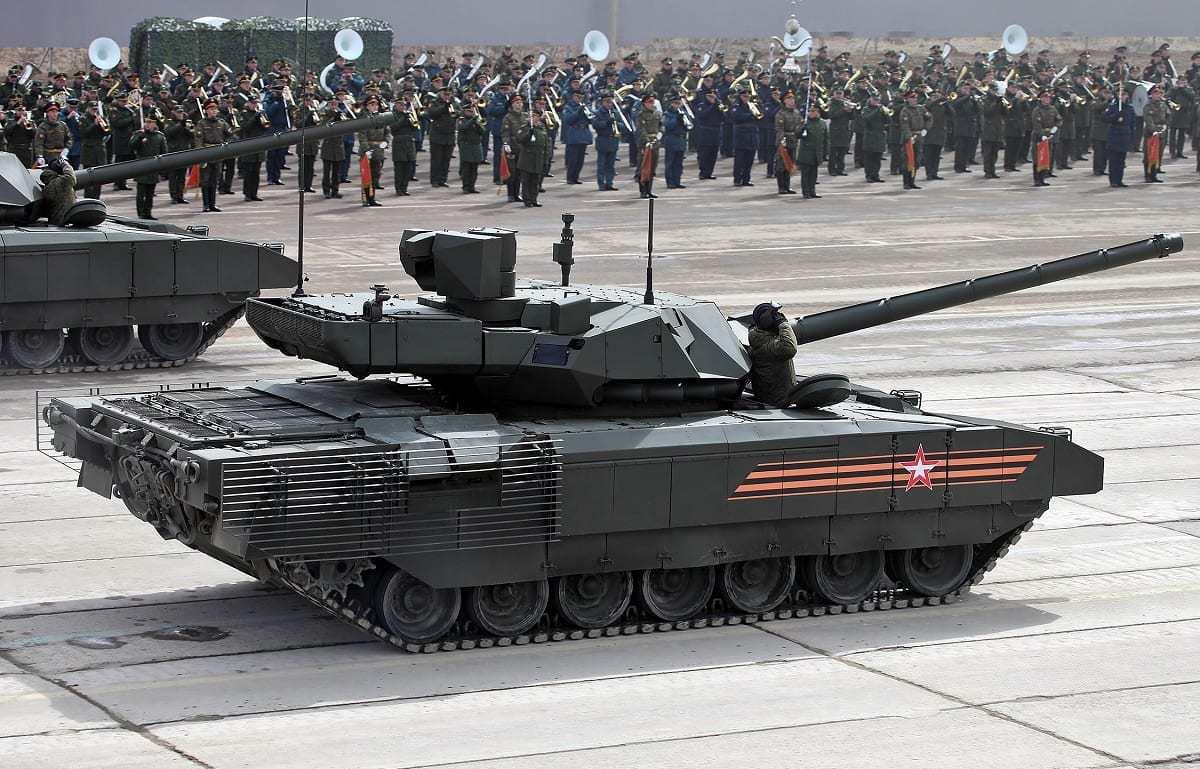Main battle tank T-14 object 148 on heavy unified tracked platform Armata