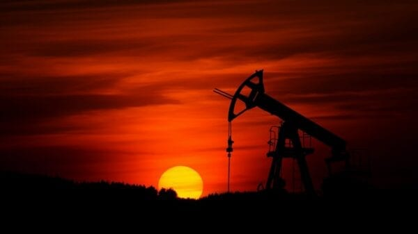 Oil Jack in the Sunset