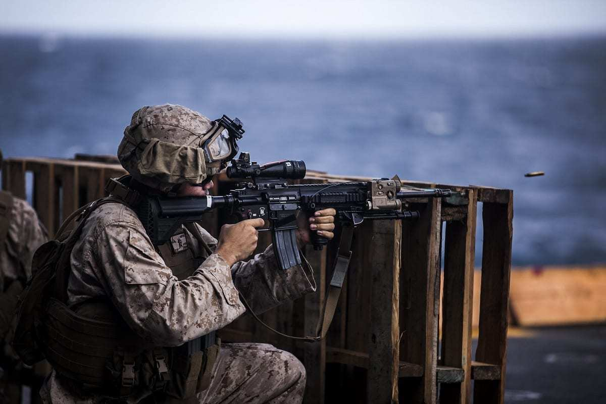 U.S. Marines Firing