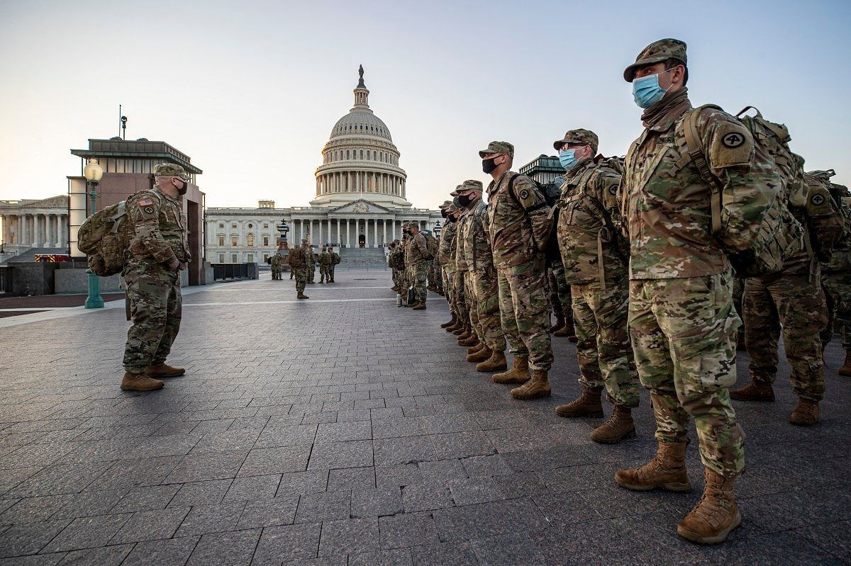New Jersey National Guard Secures Area Around Capitol