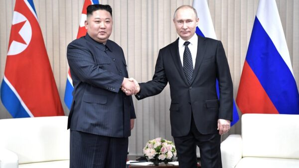 Kim Jong Un 2019 with Putin