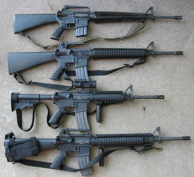 M16 Rifle Variations.