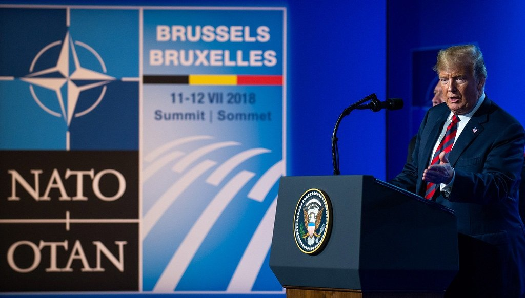 US President Donald Trump at the NATO Summit