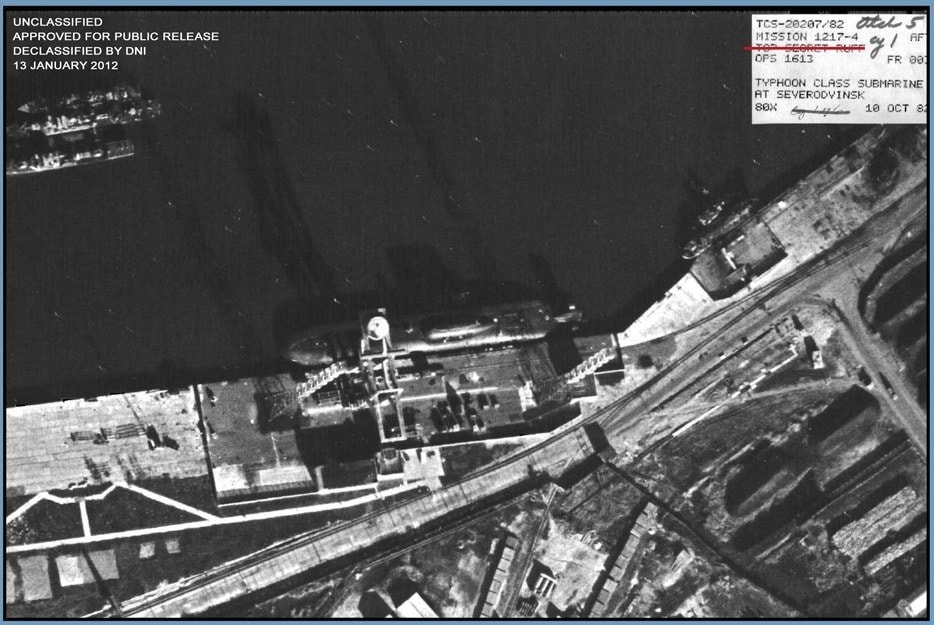 Typhoon-class Submarine Satellite Image