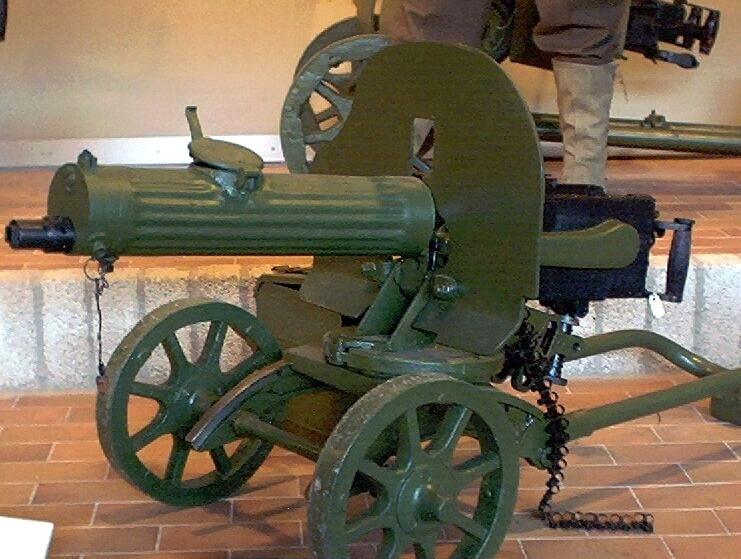 Russian Maxim Machine Gun
