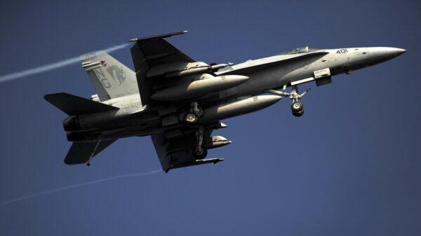 A U.S. Navy F/A-18C Hornet