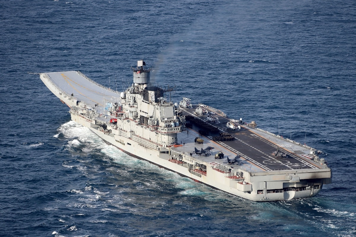 Russia's Only Aircraft Carrier Smoke