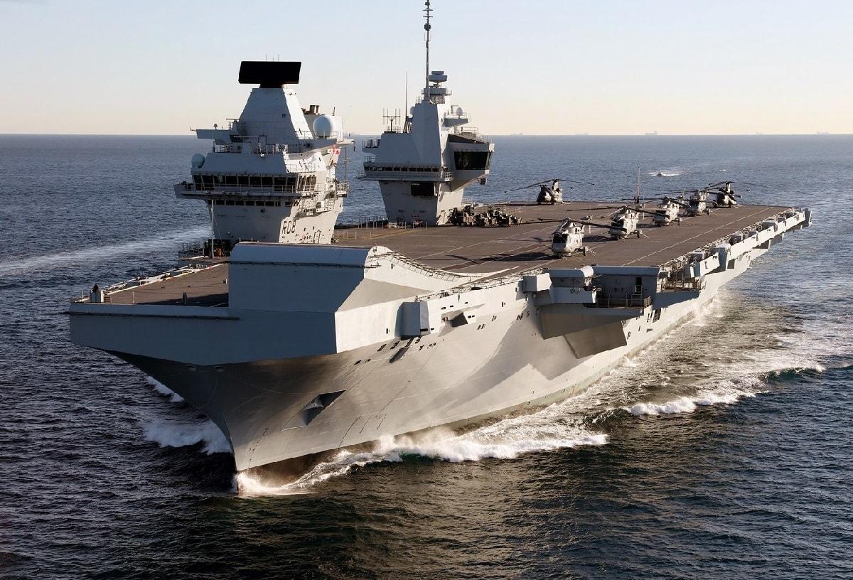 South China Sea HMS Queen Elizabeth