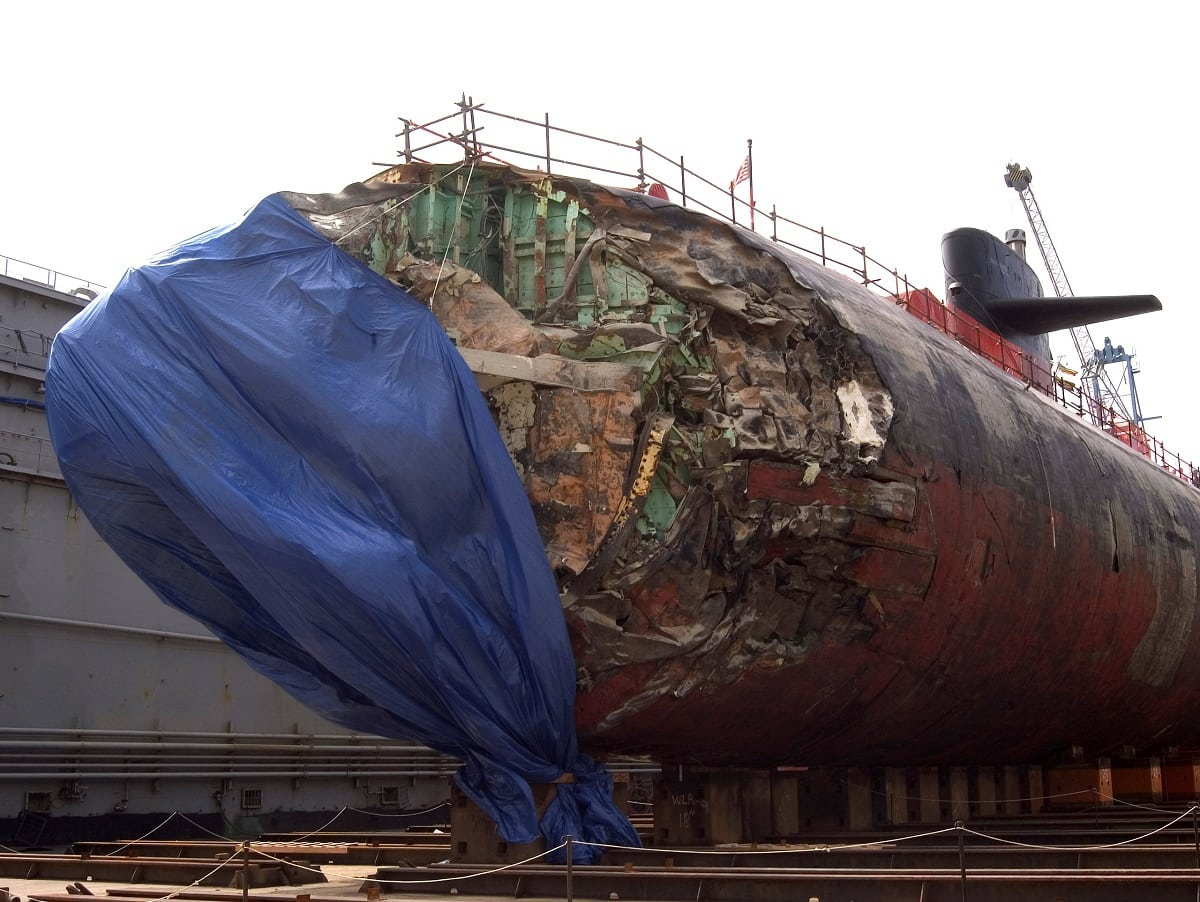 USS San Francisco Damage