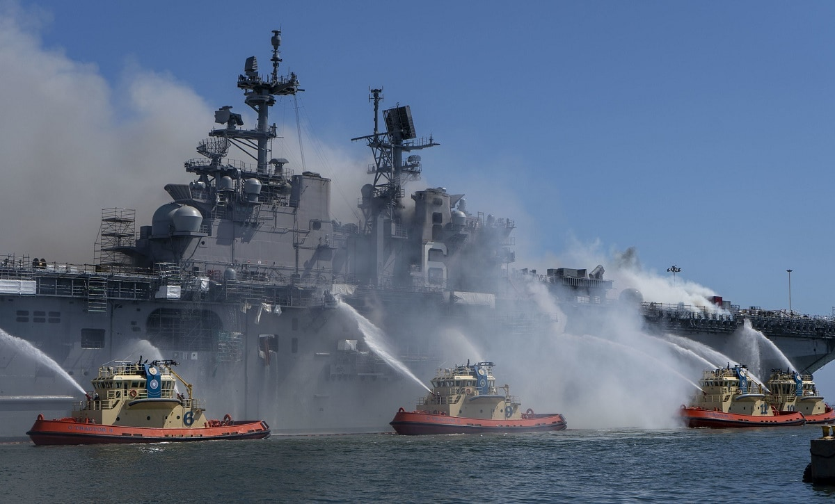 USS Bonhomme Richard Fire
