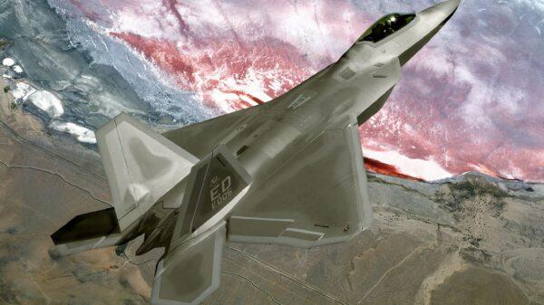 F-22 Stealth Fighter Crash