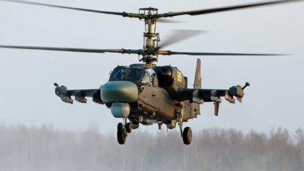 Kamov Ka-52K naval attack helicopters