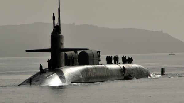 U.S. Navy Submarine Surfacing